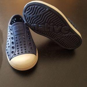 Navy Native Jefferson Toddler Shoe 7c